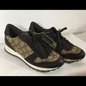Nice coach signature sneaker tennis shoes